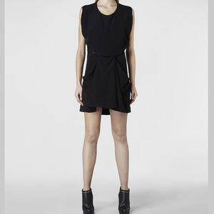 All Saints Black 'Saelde' Dress with Front Pockets